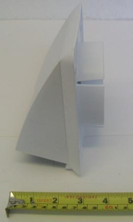 Hooded White Ventilation Cover With Draft Flap Plumbers